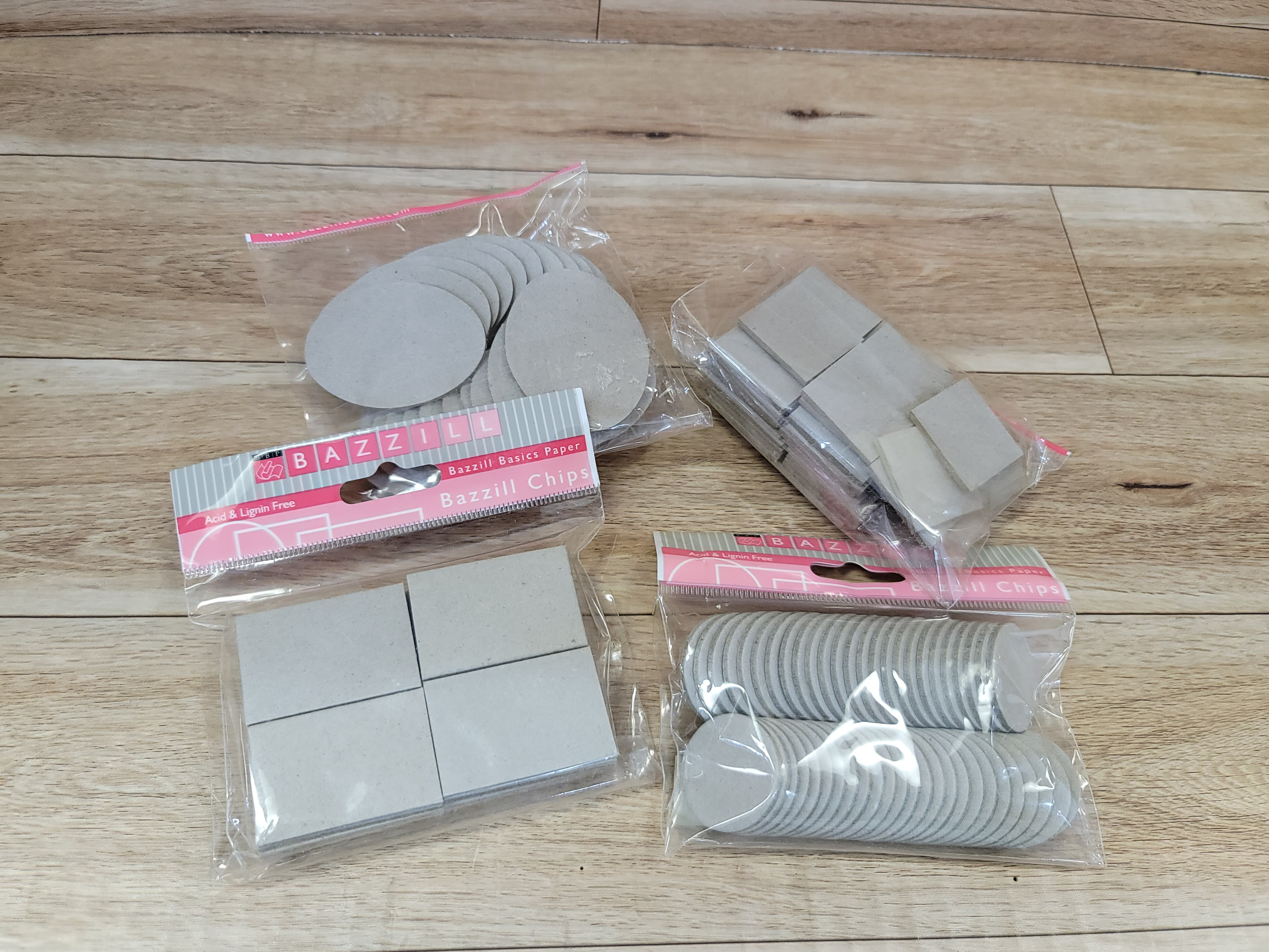 Chipboard pieces - Square, Ovel, round, rectangle