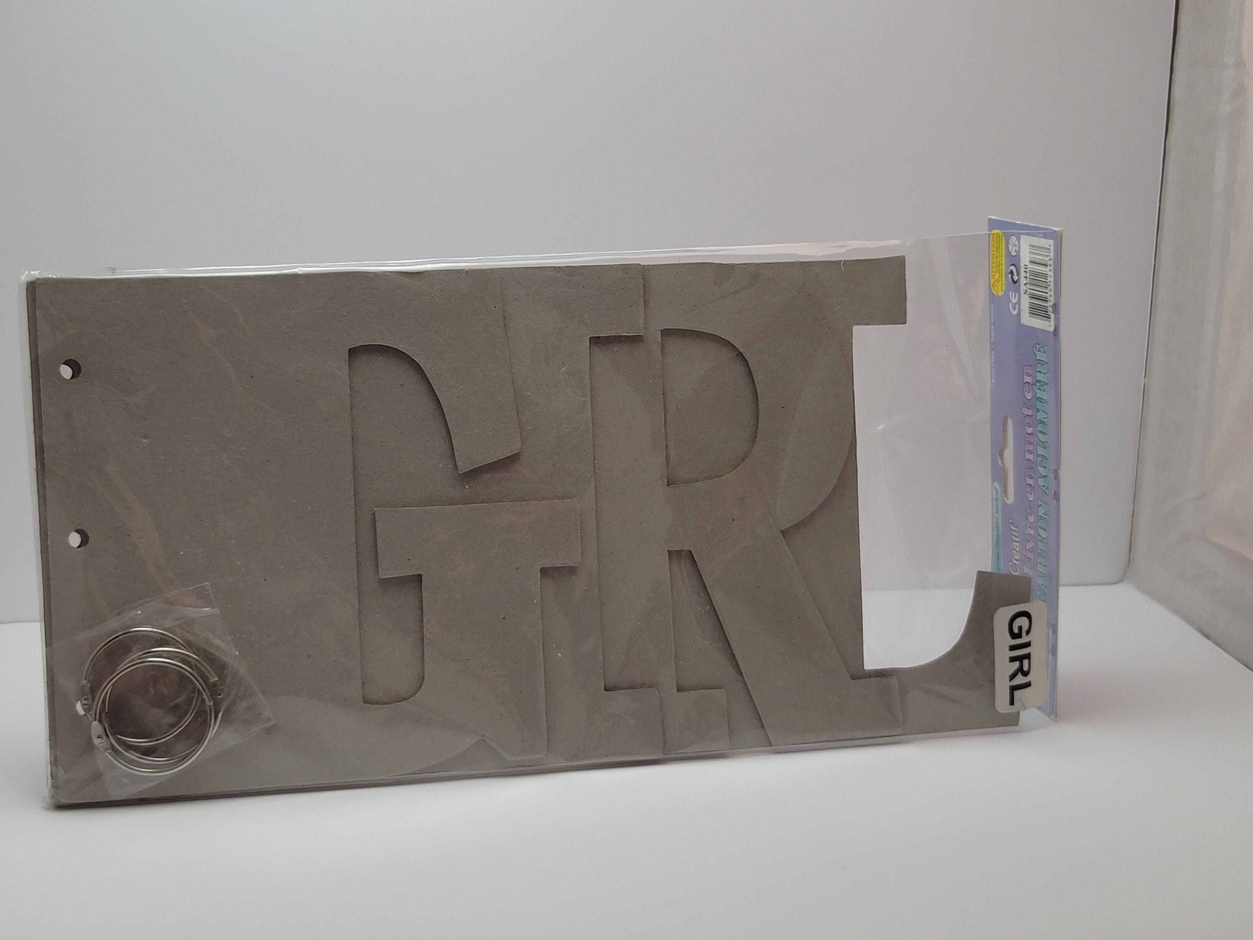 Chipboard Word Book - GIRL