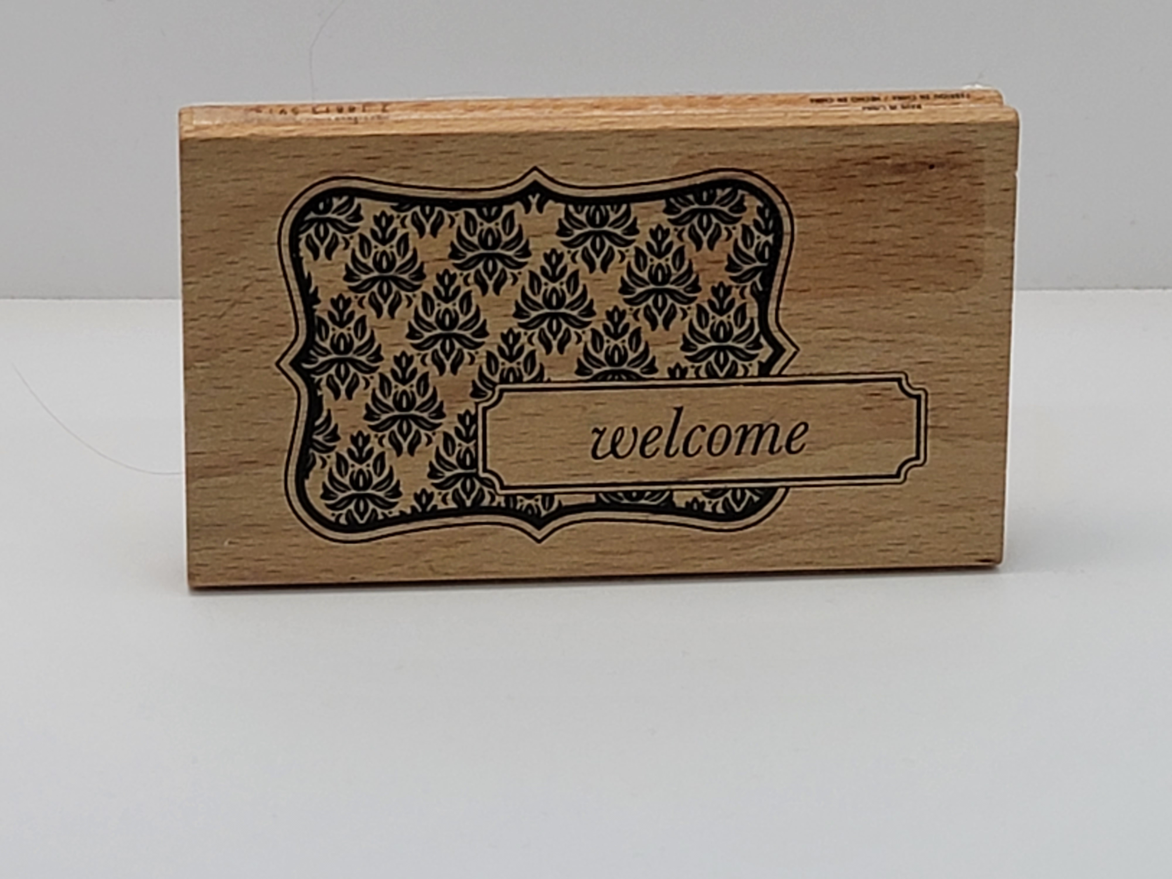 Block Stamp - Welcome