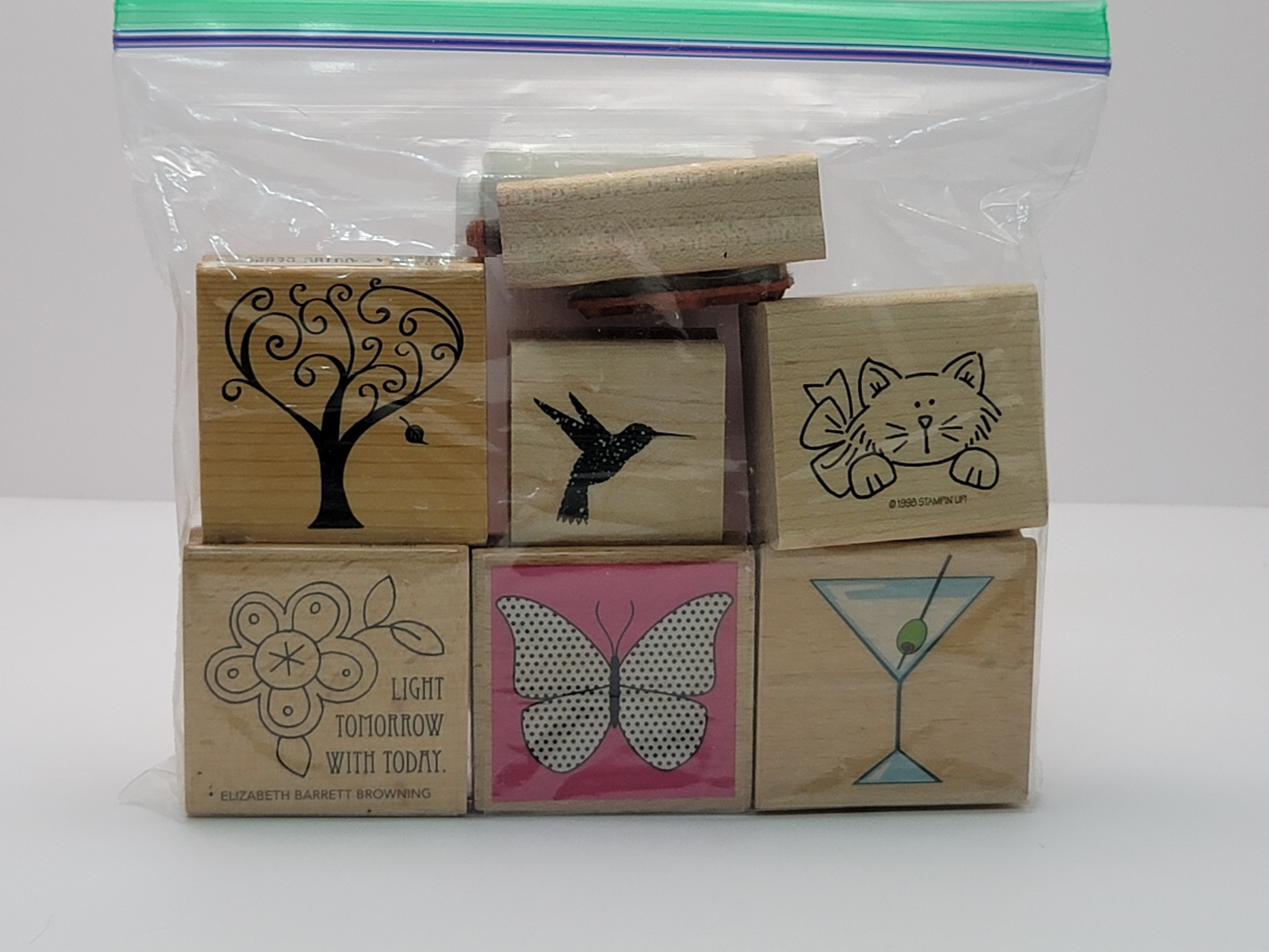 Block Stamps - Misc Friend Fun Themed (7 stamps)