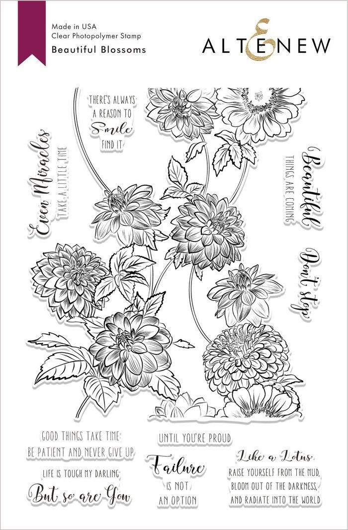 Altenew Beautiful Blossoms Stamp Set
