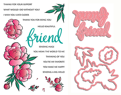 LDRS - If Friends were Flowers - Clear Stamps & Co-ordinating dies