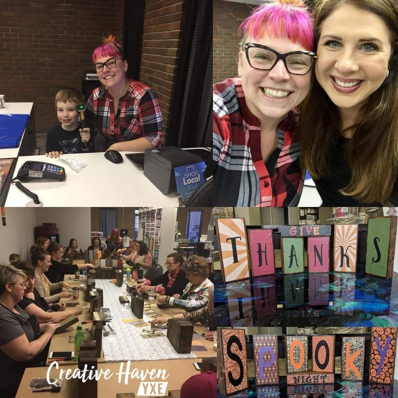 Creative Haven YXE Classes and events papercrafting saskatoon mixed media