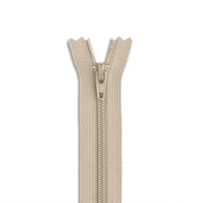 Zipper - Non Separating - 9in/21cm - Browns