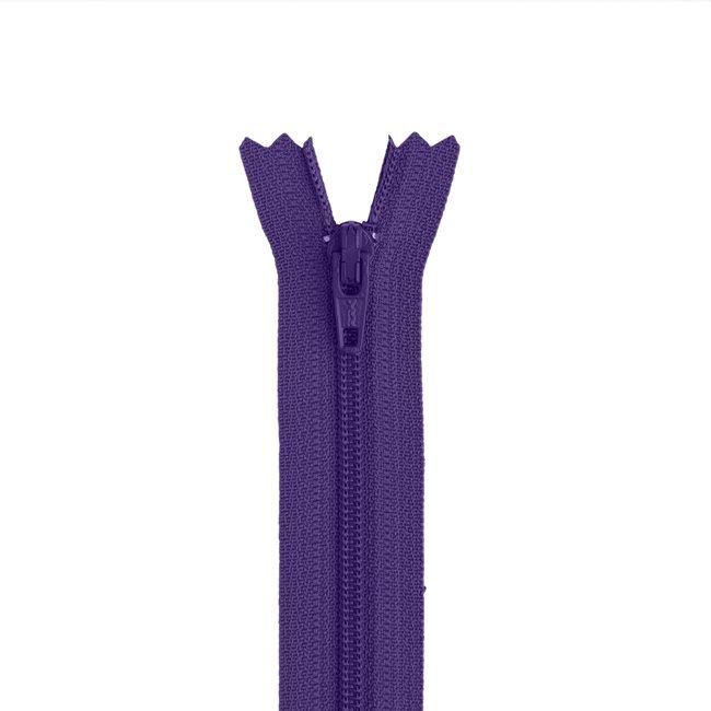 Zipper - Non Separating - 9in/21cm - Purples