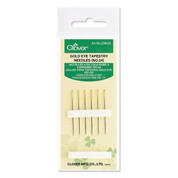 CLOVER GOLD EYE TAPESTRY NEEDLE - No. 24