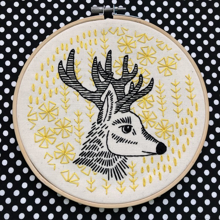Oh Deer Me - Complete Embroidery Kit