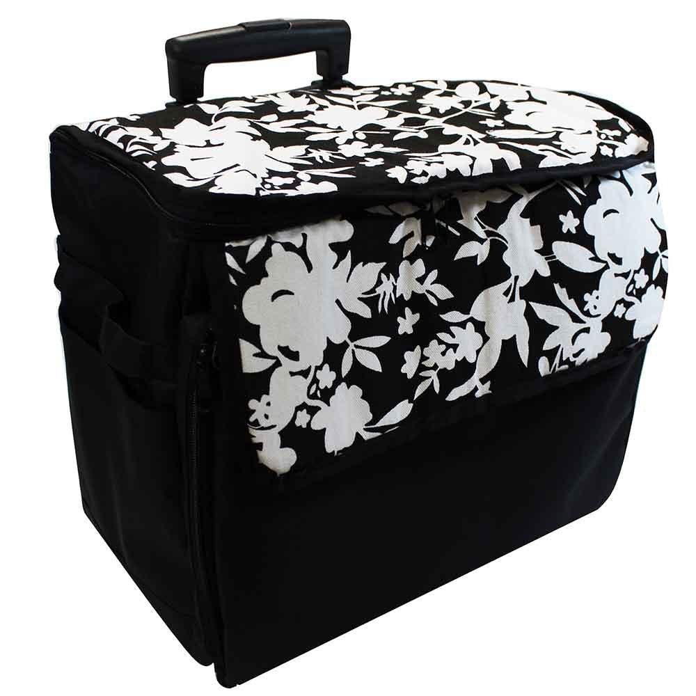 Sewing Machine Trolley - 17.5 x 11.5 x 14 - B&W Floral