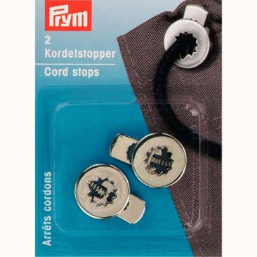 Toggle Cord Stops - Metal - Flat - Shiny Silver