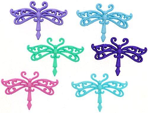 Button Pack - Let Your Spirit Soar - Glitter Dragonflies