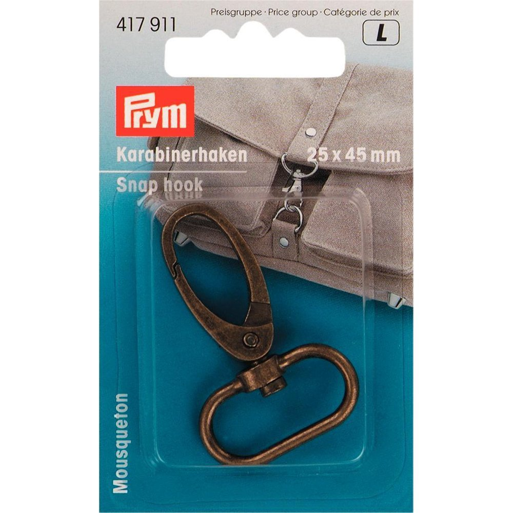 Snap Hook - 25x45mm - Antique Brass