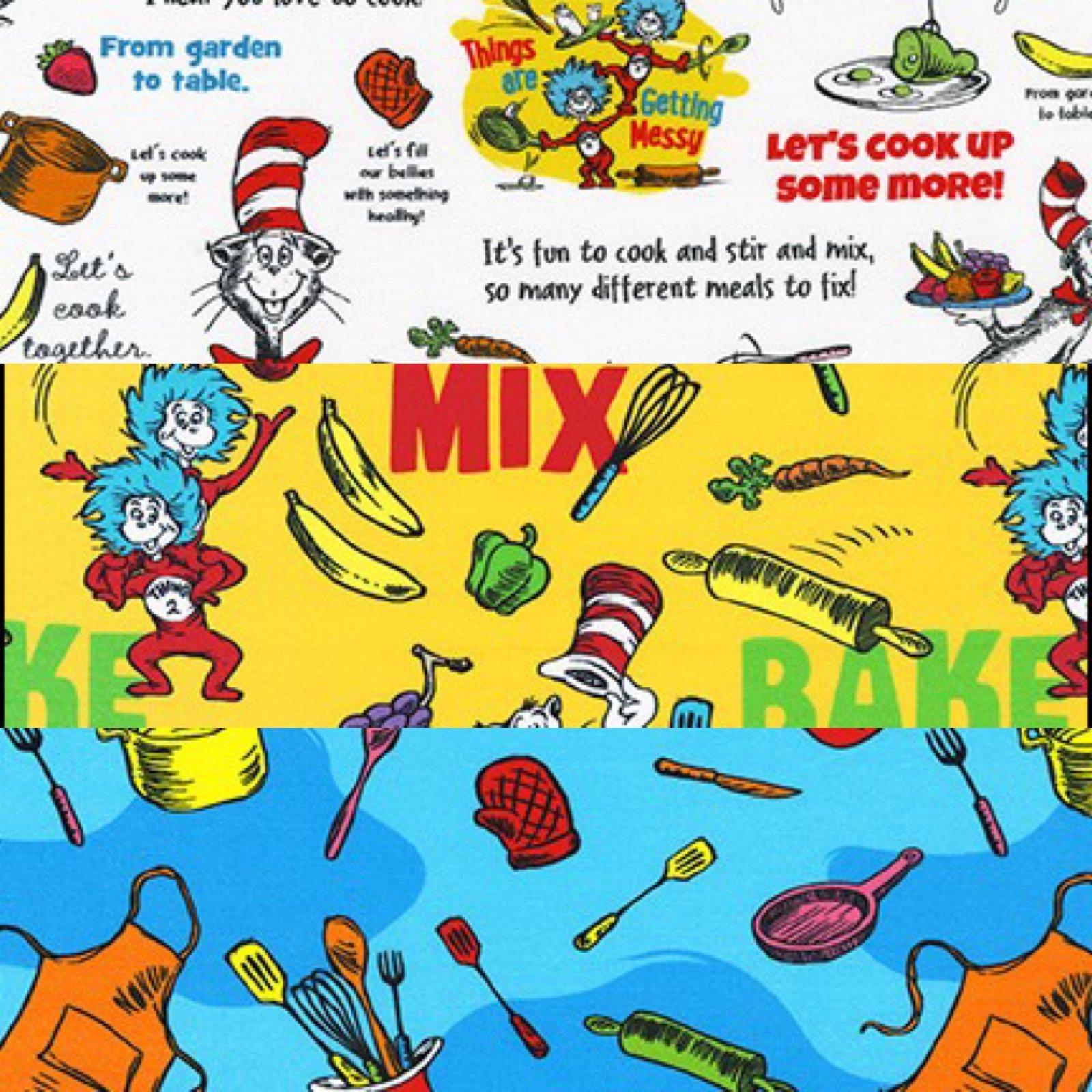 Fat Quarter Bundle - 3pc - Seuss Chef