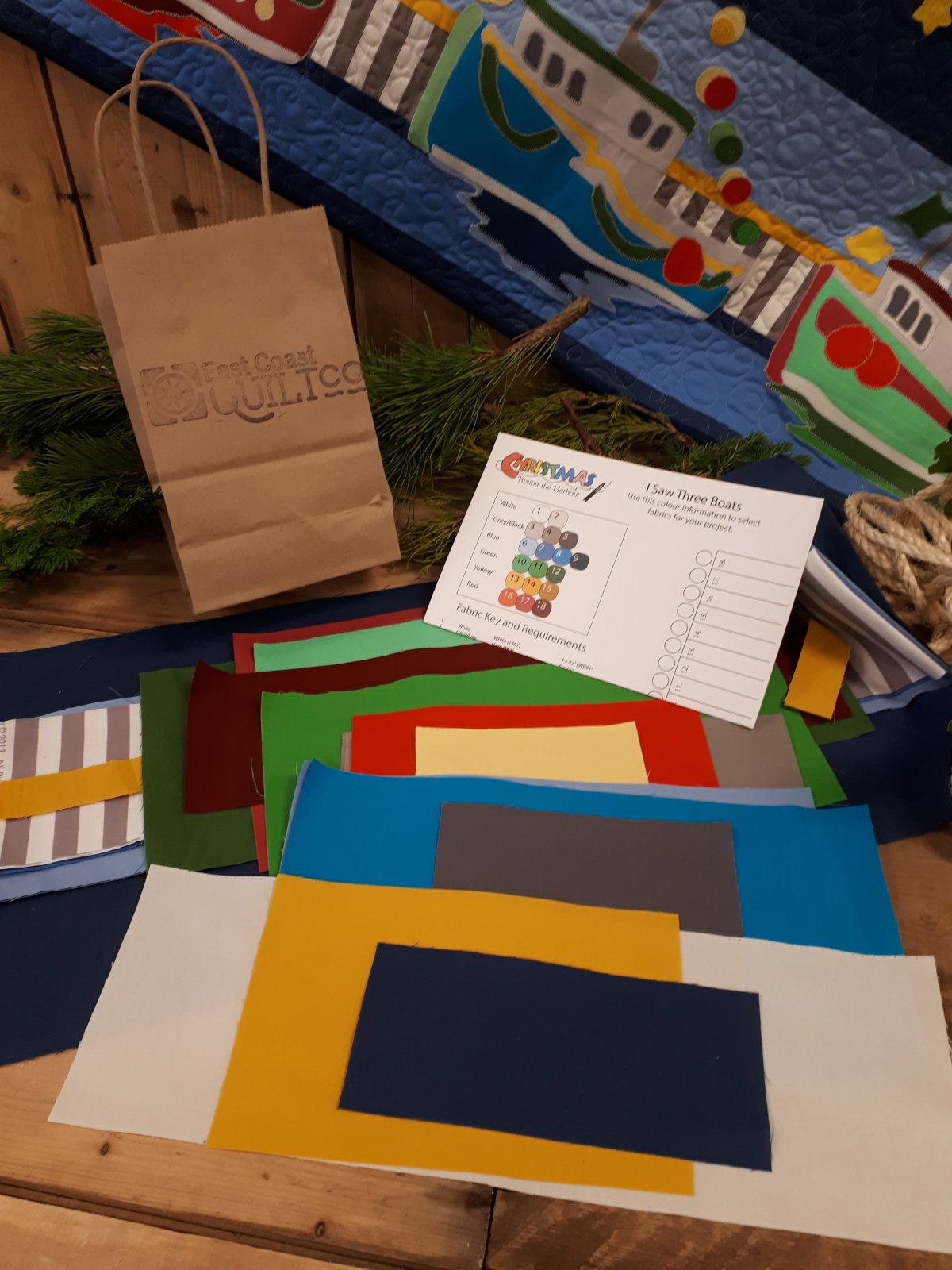 I Saw Three Boats Kit (Fabric Only)