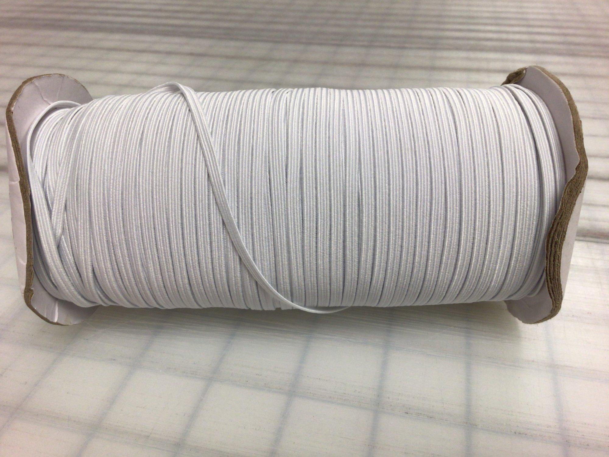 Elastic - White - 3mm/.12in