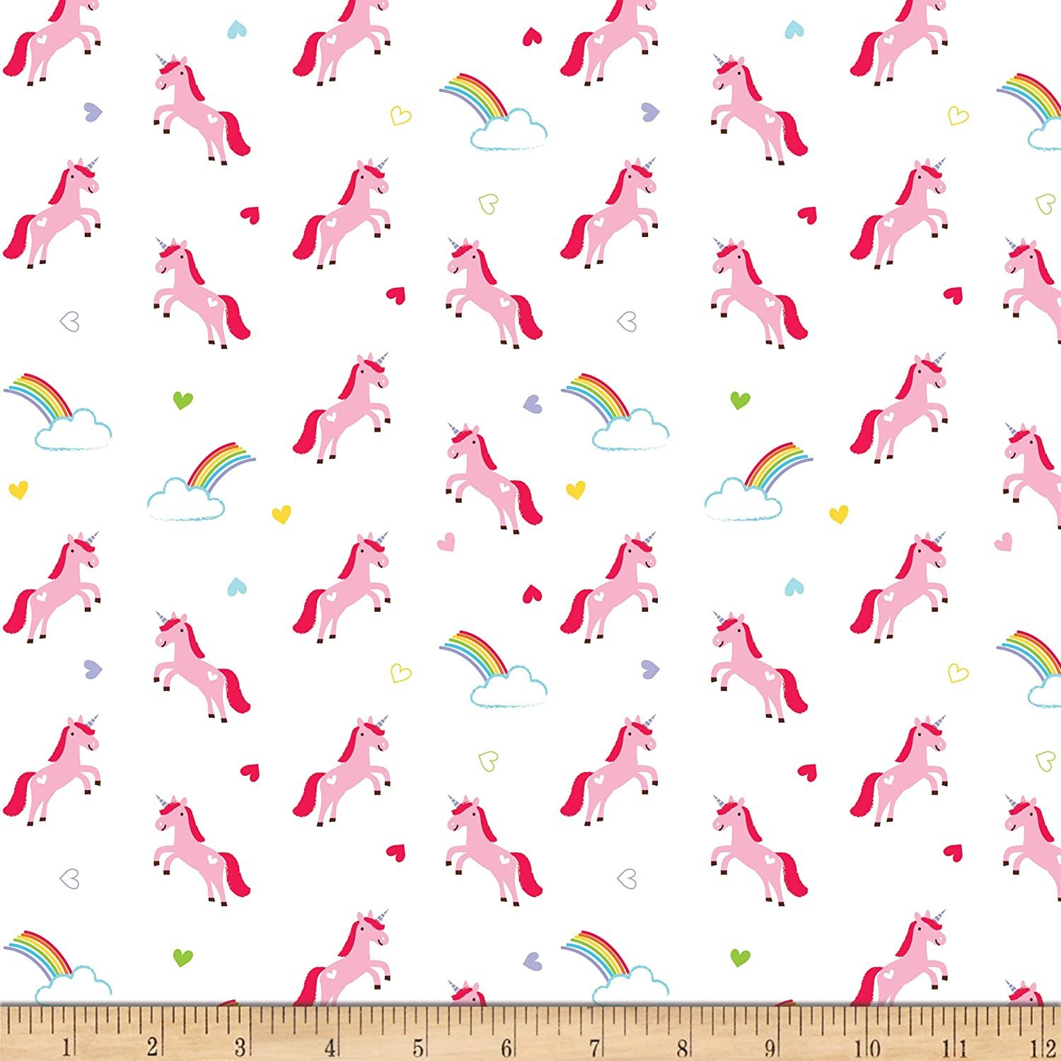 Designer Flannel - Once Upon A Time - Unicorn - White