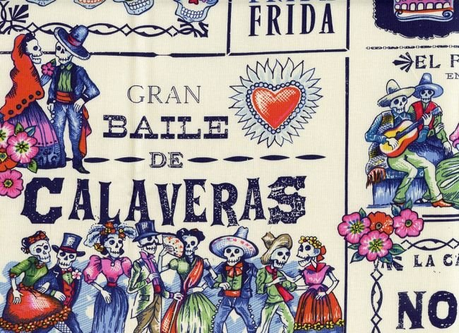 Baile De Calaveras - Tea/Marine 7924 C