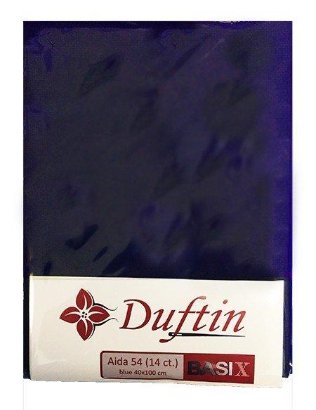 DUFTIN Aida Cloth 54 (14 ct) 40x100 - Blue