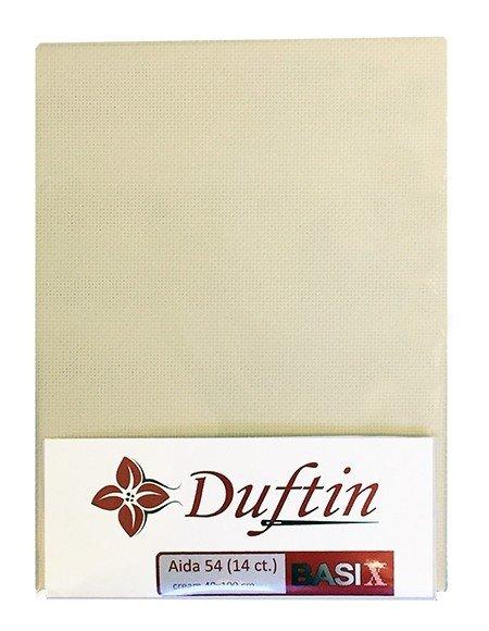 DUFTIN Aida Cloth 54 (14 ct) 40x100 - Cream