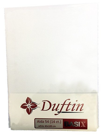 DUFTIN Aida Cloth 64 (16 ct) 40x100 cm - White