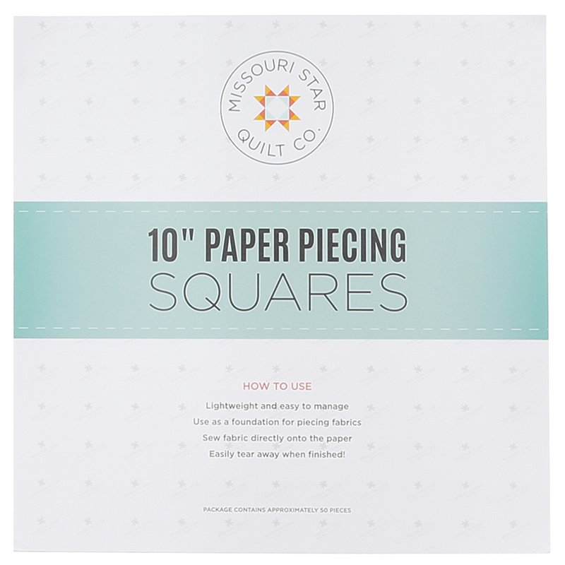 Paper Piecing Squares - 10in - 25pc