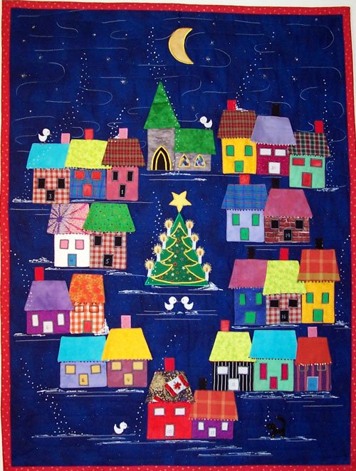 Advent Calendar Pattern - Houses - 30x40