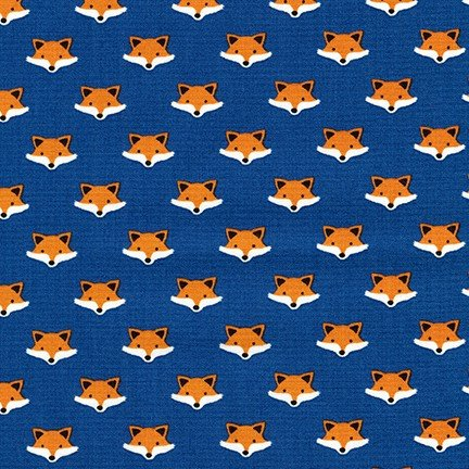 Andie's Minis - Fox Heads - Royal Blue