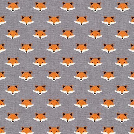 Andie's Minis - Fox Heads - Grey