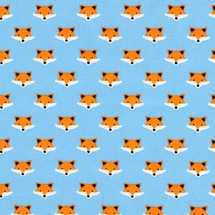 Andie's Minis - Fox Heads - Denim