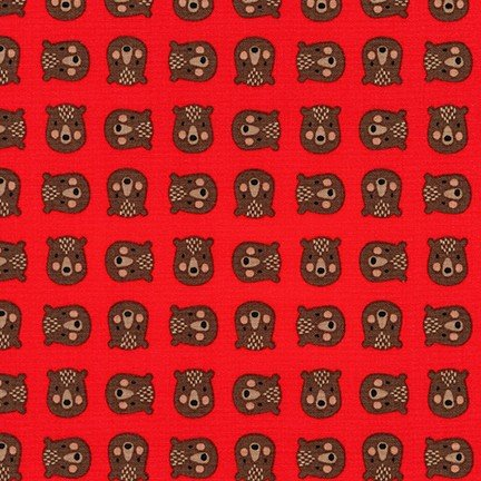 Andie's Minis - Bear Heads - Red