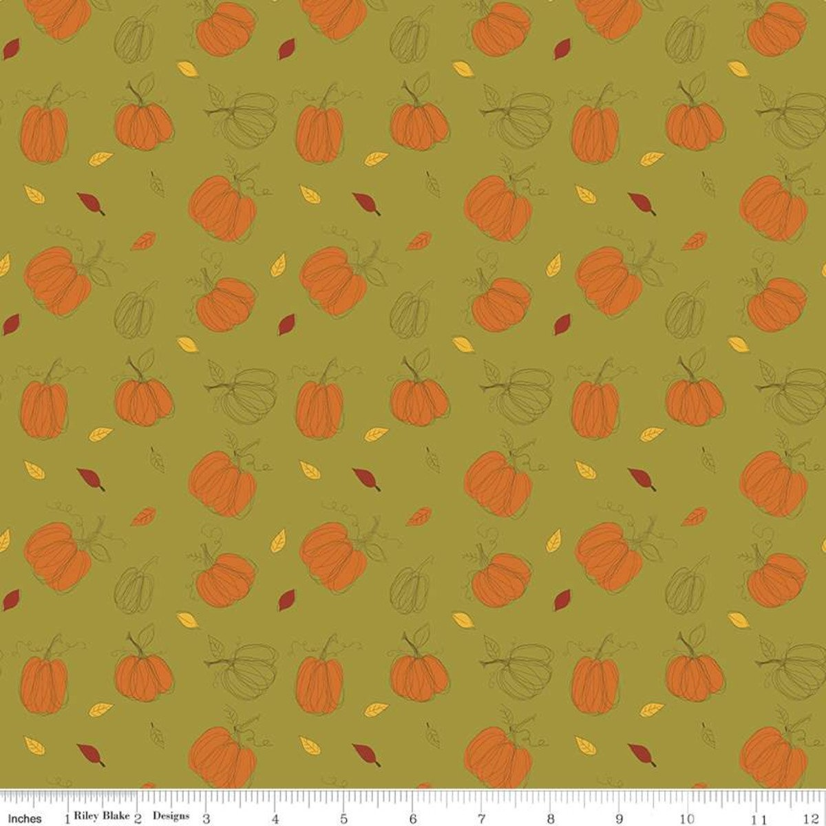Adel in Autumn - Pumpkins - Olive
