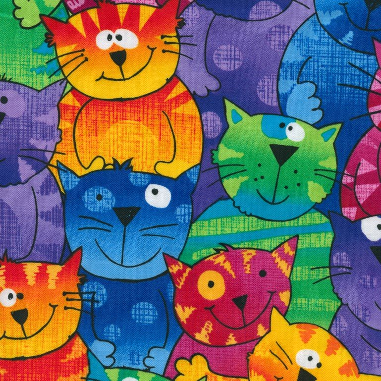 Pop Cats - Cat Crazy - Multi - 1pc - 0.91m/36in