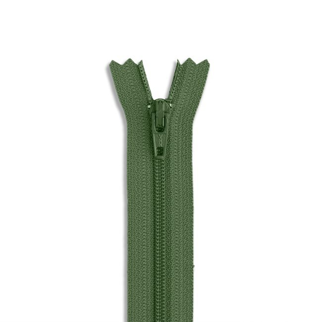 YKK #3 - 9 inch Coil Zipper - Army Green
