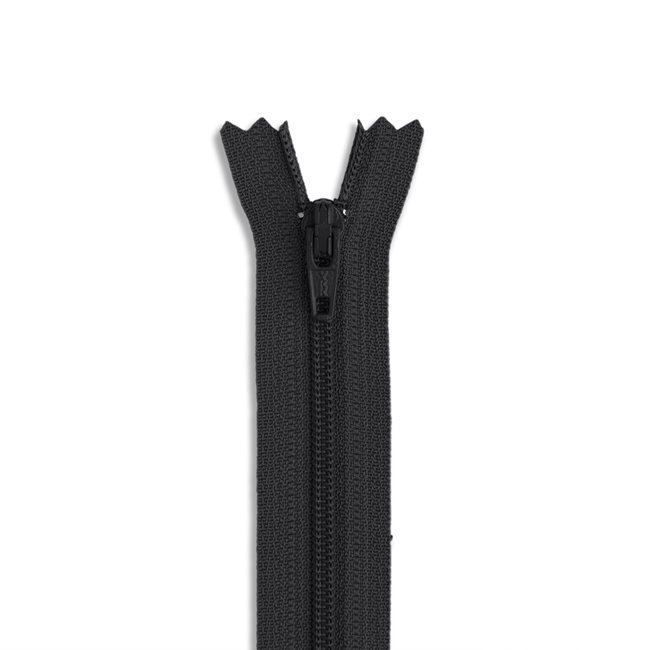 YKK #3 - 9 inch Coil Zipper - Black