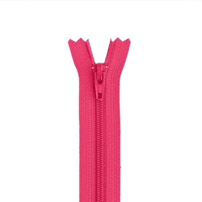 YKK #3 - 9 inch Coil Zipper - Hot Pink