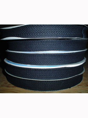 100% Cotton Belting/Webbing - 1in/25 mm Wide - White 724-001
