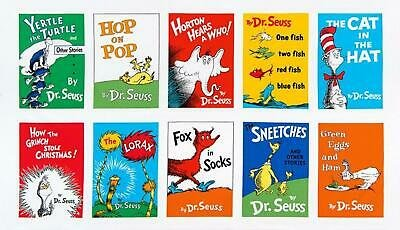 Panel - 23in - Dr. Seuss - Book Covers - Bright