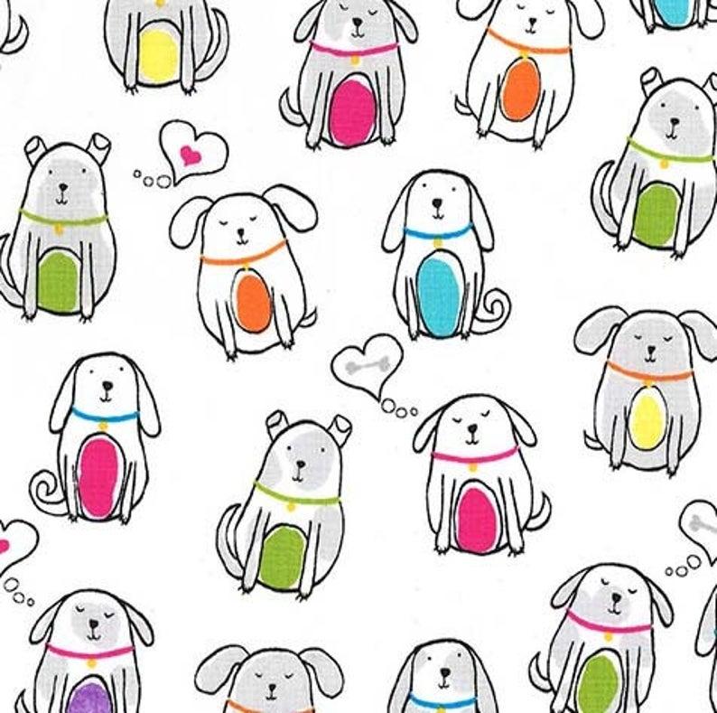Paw Prints - Dog Earred - Rainbow - 1pc - 1m