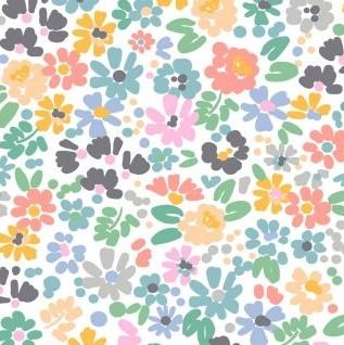Flower Power - White - 1pc - 1.09m/43in