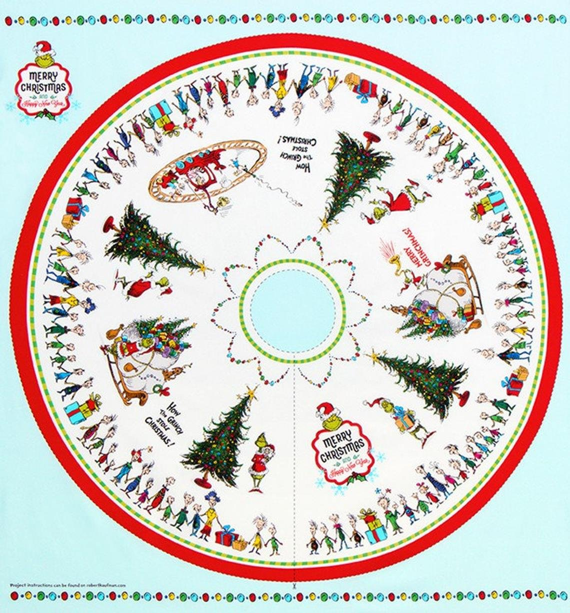 Panel - 46in - How The Grinch Stole Christmas - Tree Skirt