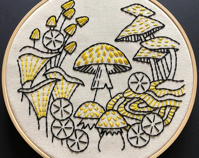Fungus Among Us - Complete Embroidery Kit