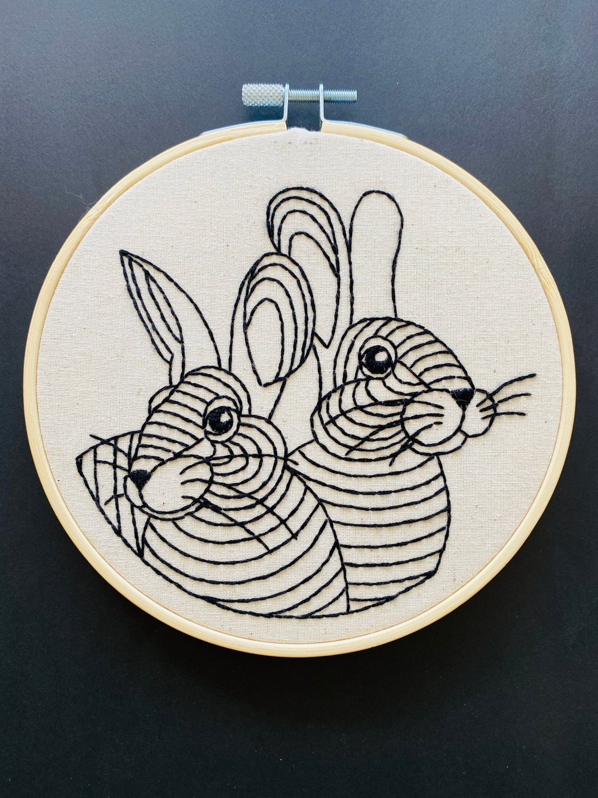 Rabbit Rabbit - Complete Embroidery Kit