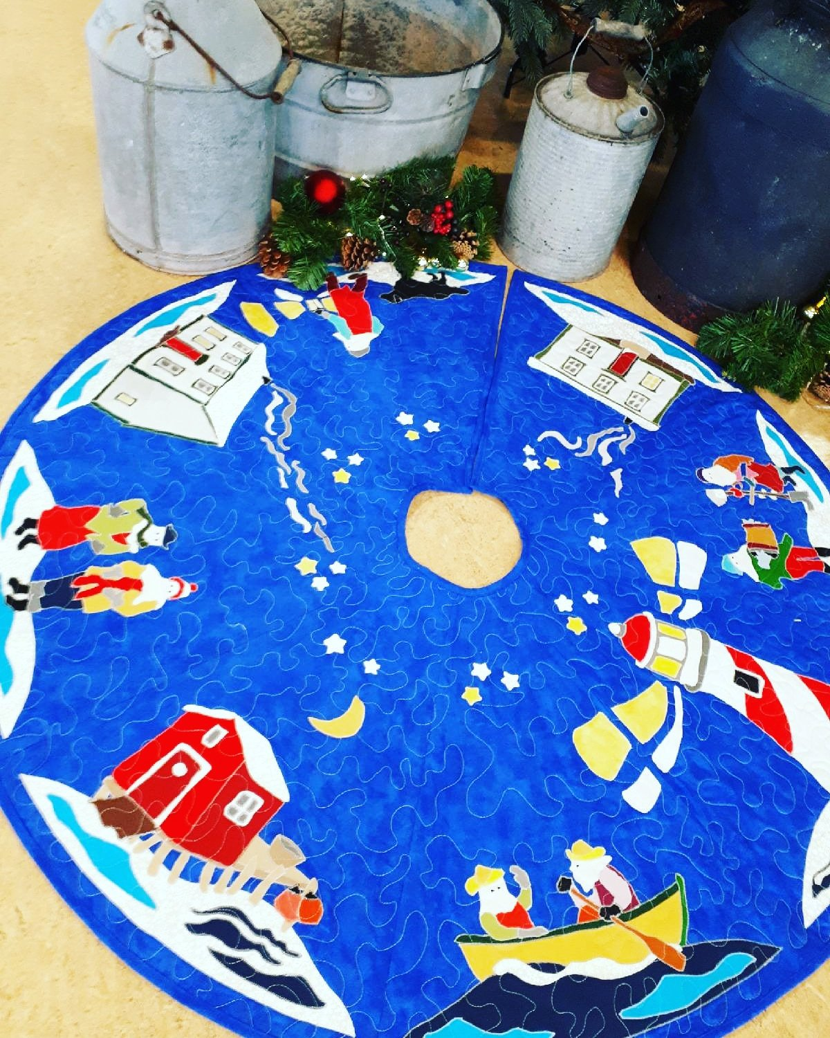 Christmas 'Round the Harbour Tree Skirt Pattern