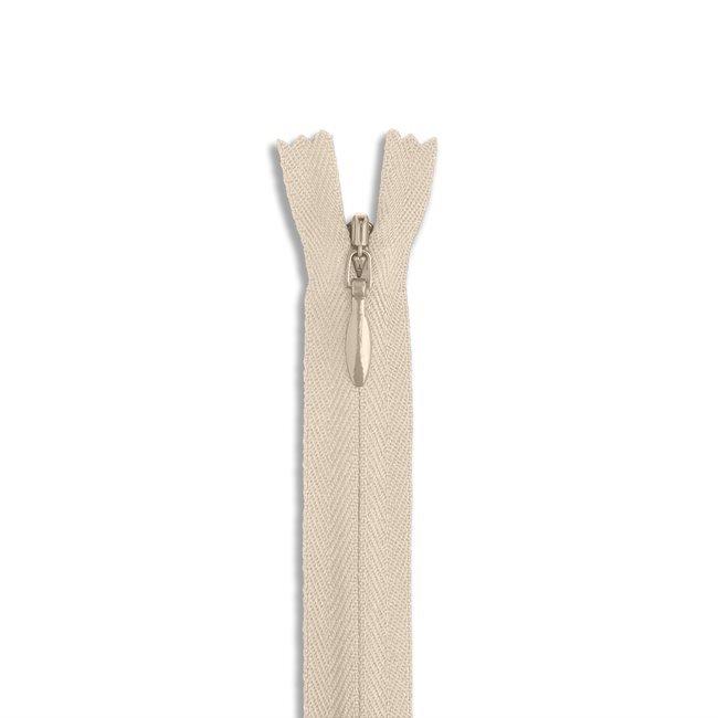 YKK #2 - 9 inch Invisible Zipper - Beige