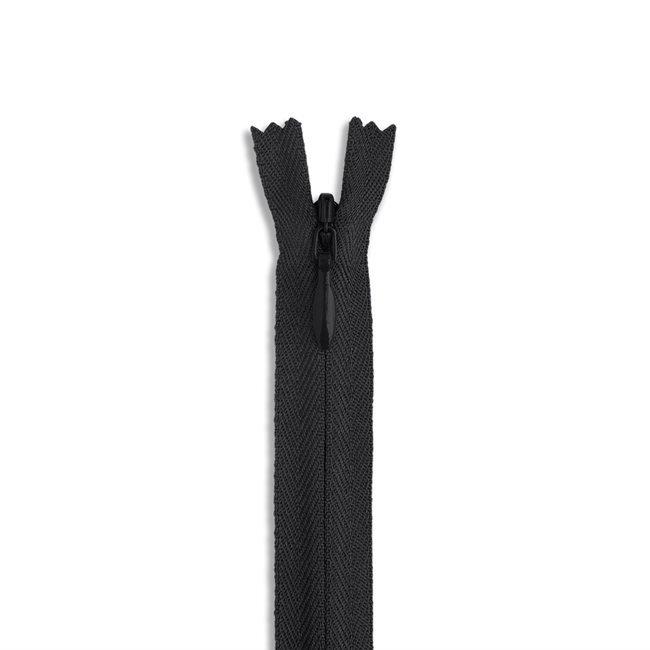 YKK #2 - 9 inch Invisible Zipper - Black