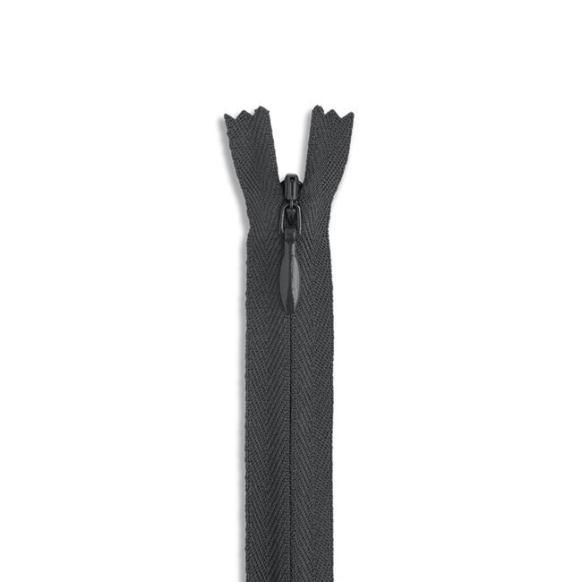 YKK #2 - 9 inch Invisible Zipper - Charcoal