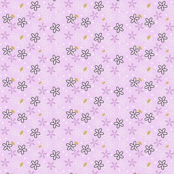 Believe -  Glitter Daisy - Lavender - 1pc - 0.89m/35in