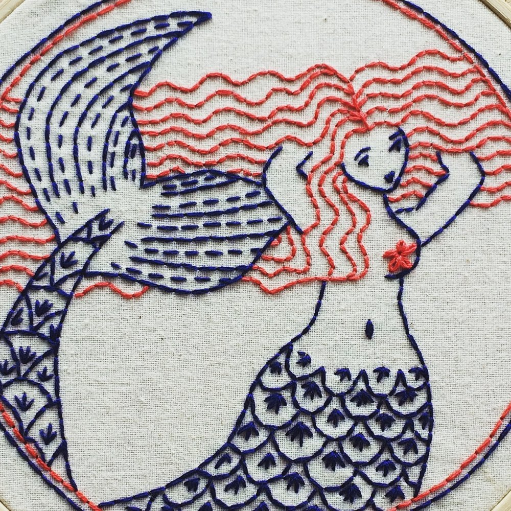 Mermaid Hair Don't Care - Complete Embroidery Kit