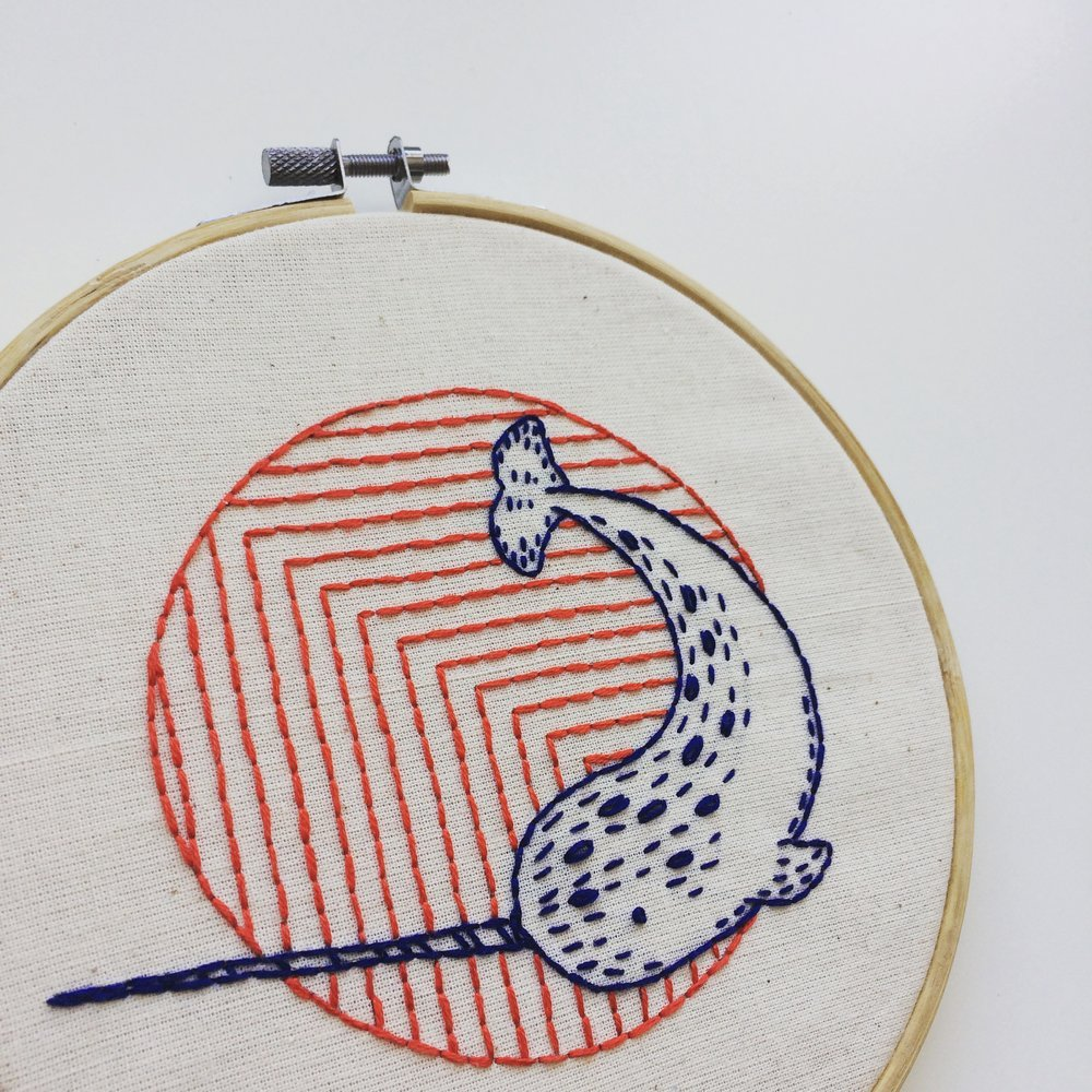Narwhal - Complete Embroidery Kit
