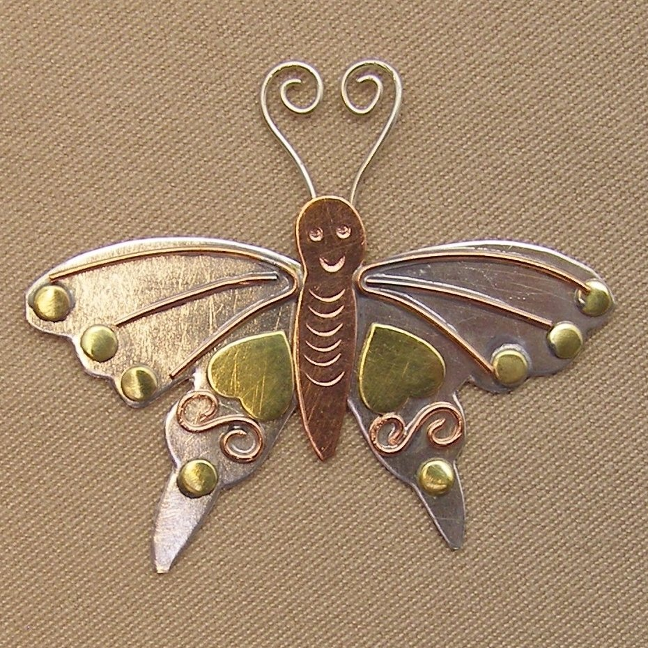 Magnetic Needle Nanny - Butterfly
