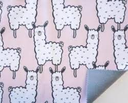 Fleece-lined Water Repellent - Pink Llamas